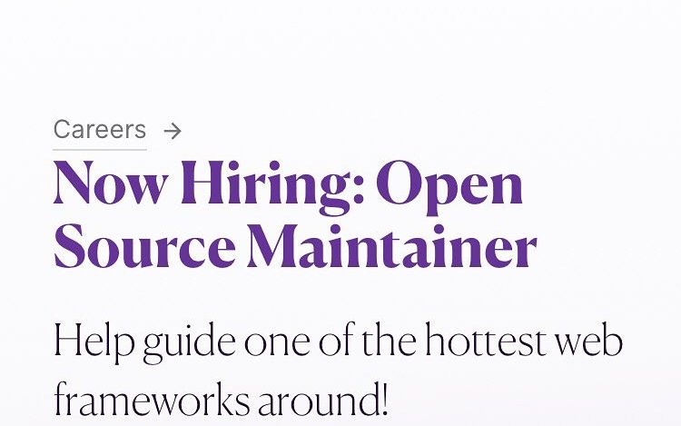 We're hiring an OSS maintainer. Remote applicants welcome. Link in profile. @womenwhocode @womenwhocodeto @wwcodedfw @womenwhocodebelfast @womenwhocodenyc